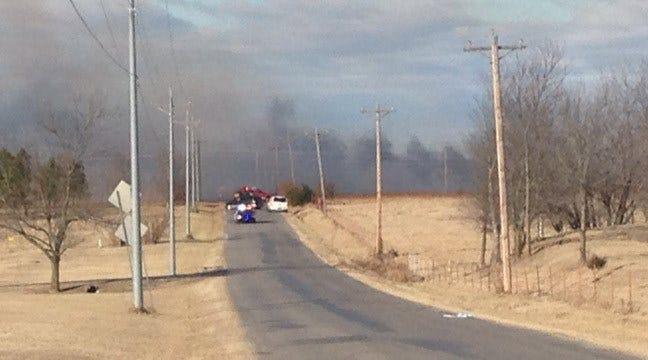 Crews Battle Grass Fire Southwest Of Skiatook
