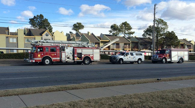 Tulsa Fire Department Contains Fire At Shadow Mountain Apartments