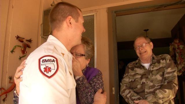 Tulsa Couple Reunites With Life-Saving Crew