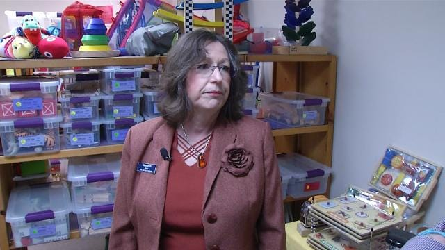 Child Care Center Checks Out Toys To Tulsa Children