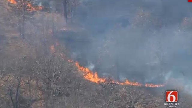 Firefighters Battle Okmulgee County Brush Fire