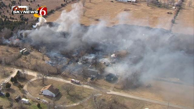 Five Departments Work Together To Fight Turley Grass Fire