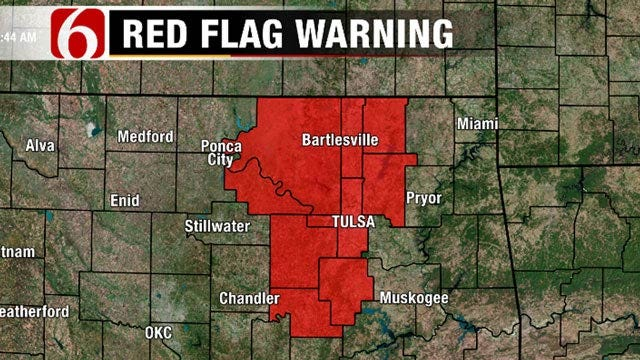 Warm Temps, Strong Winds Place Tulsa Area Under 'Red Flag Warning'