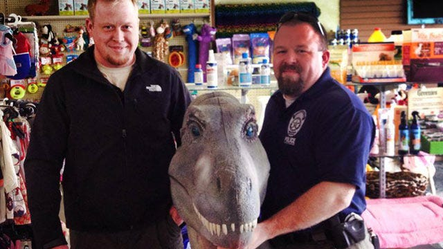 Head Of Stolen Dinosaur Returned To Bartlesville Pet Store