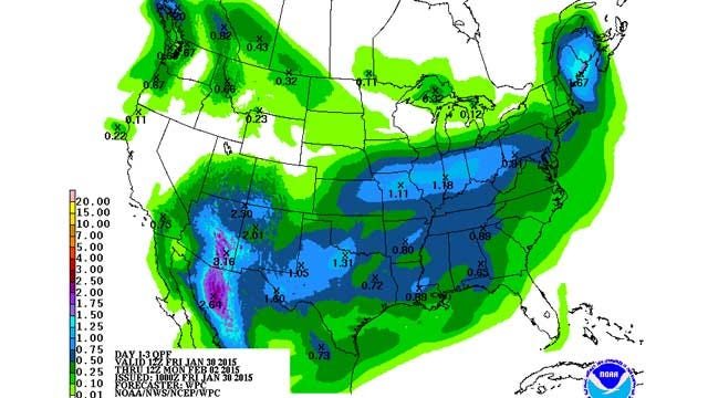 Dick Faurot's Weather Blog: Cold, Wet Weekend In Green Country