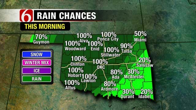 Cold, Wet Weekend Expected In Green Country