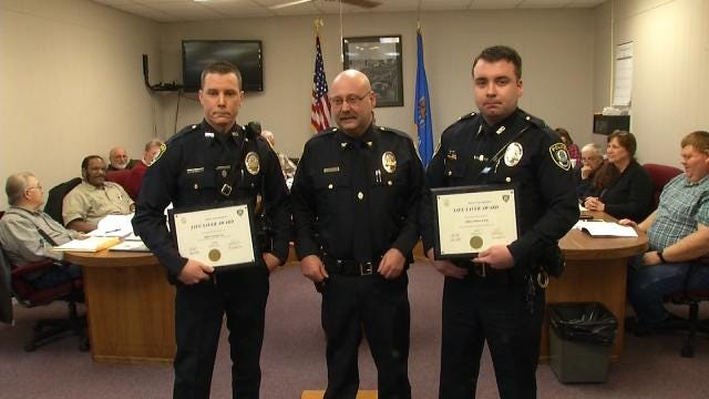 Wagoner Police Officers Honored For Saving 13 Month Old