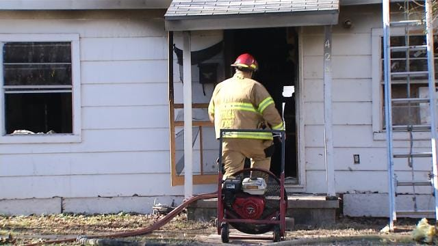 Tulsa Firefighters Save Homeowner's Dog