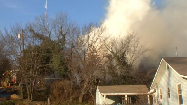 No Cause Yet For Fire Which Destroyed West Tulsa House