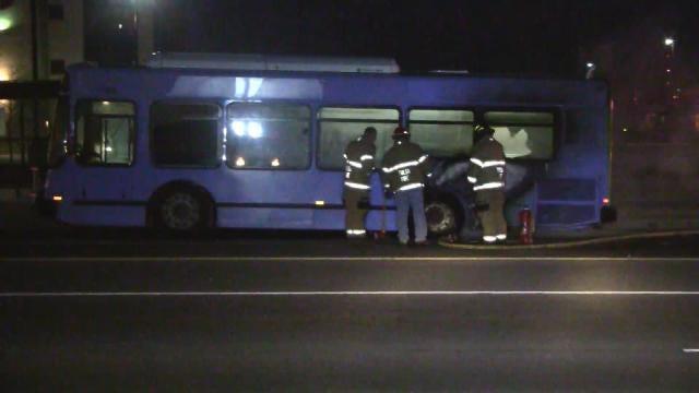 Tulsa Transit Bus Damaged By Fire