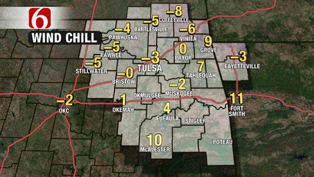 Very Cold Morning Across Eastern Oklahoma