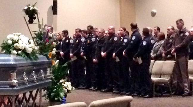 Law Enforcement Officers Honor Glenpool Boy At Funeral