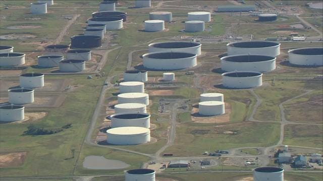 Reports: Stockpiling Crude Oil In Cushing