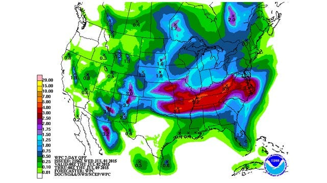 Dick Faurot's Weather Blog: Showers/Storms Likely Through The Weekend