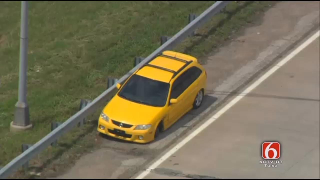 Runaway Wheel Causes Wreck On U.S. 412 In Sand Springs