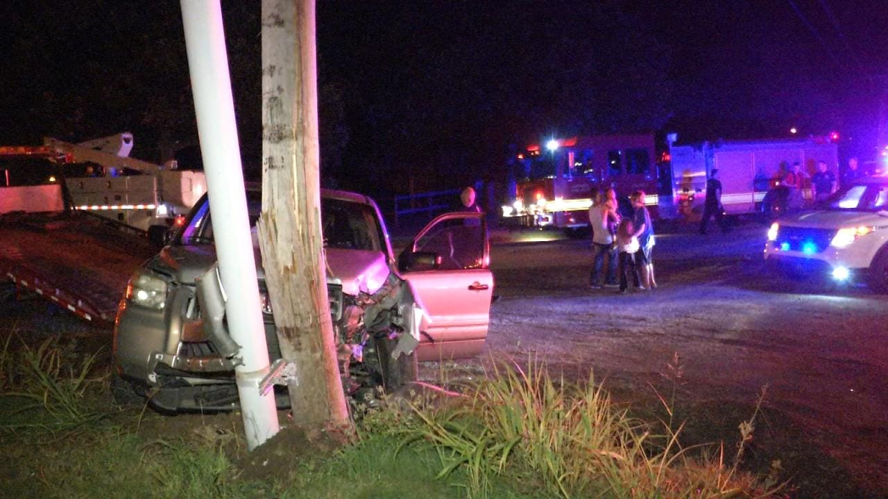 Catoosa Police: Father Crashes SUV, Leaves Wife And Kids