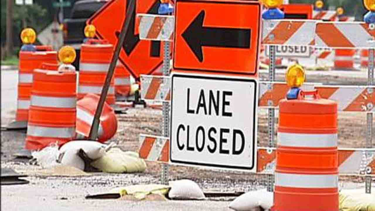 Road Project Narrows Highway 69 In Mayes County