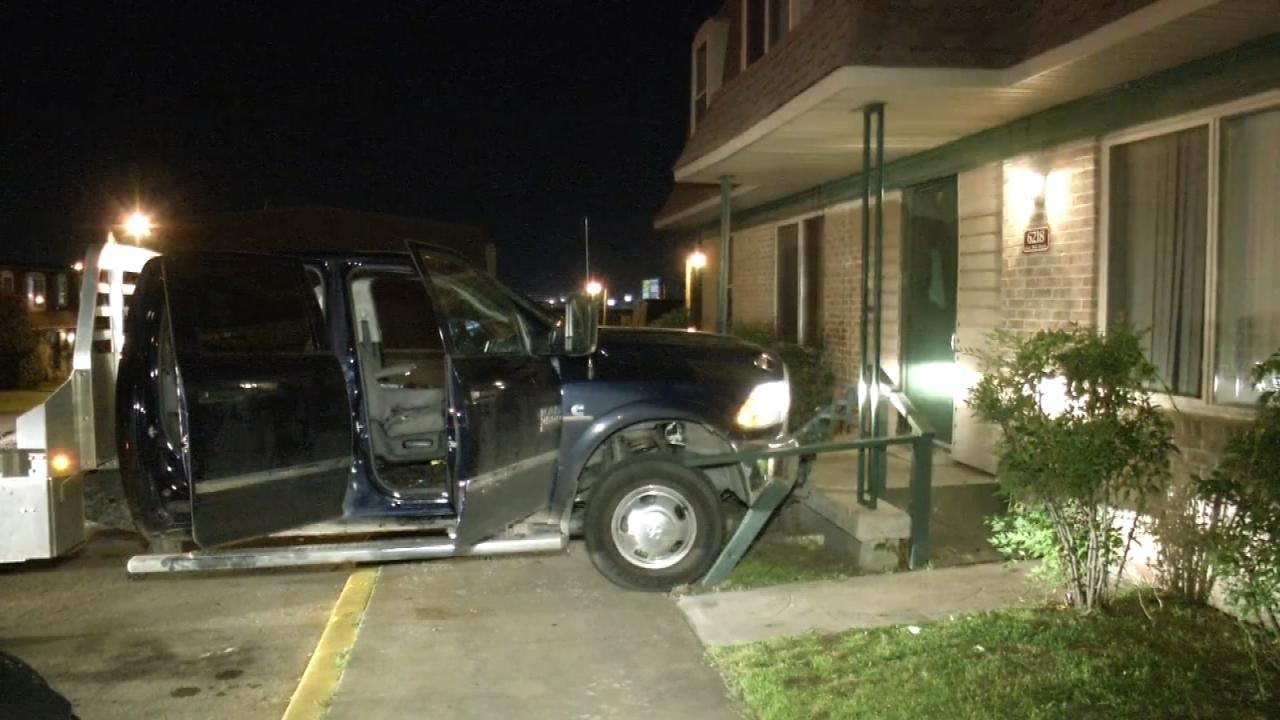 Tulsa Armed Robbery Suspects Crash Stolen Truck