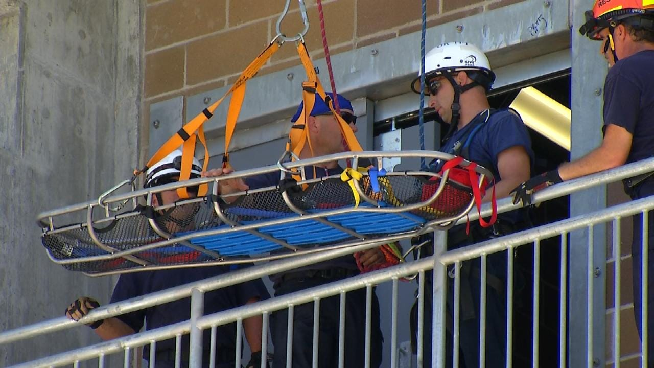 Firefighters Practice At TCC's New Fire Training Center