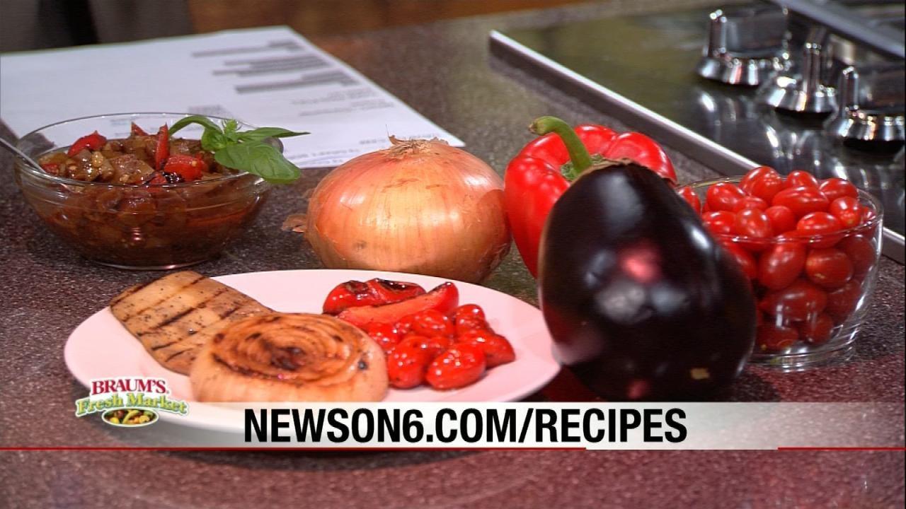 Grilled Eggplant Caponata