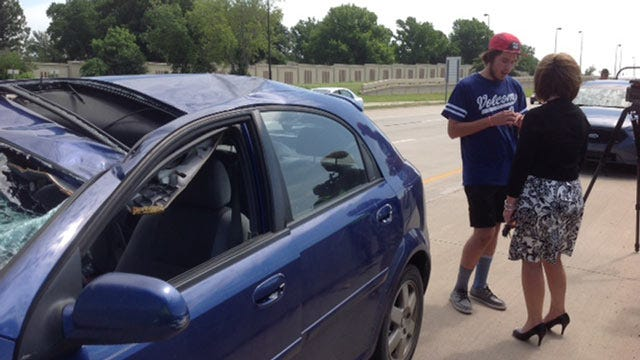 Loose Tire Flies Across I-44, Crushes Teen Driver's Windshield