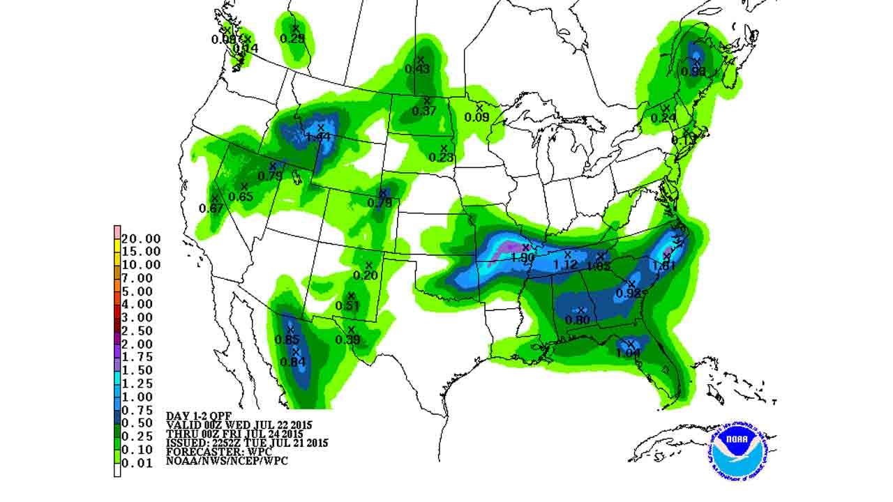 Dick Faurot's Weather Blog: One More Day Before Heat Returns