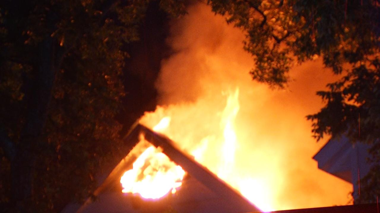 Lightning Strike Sparks West Tulsa House Fire