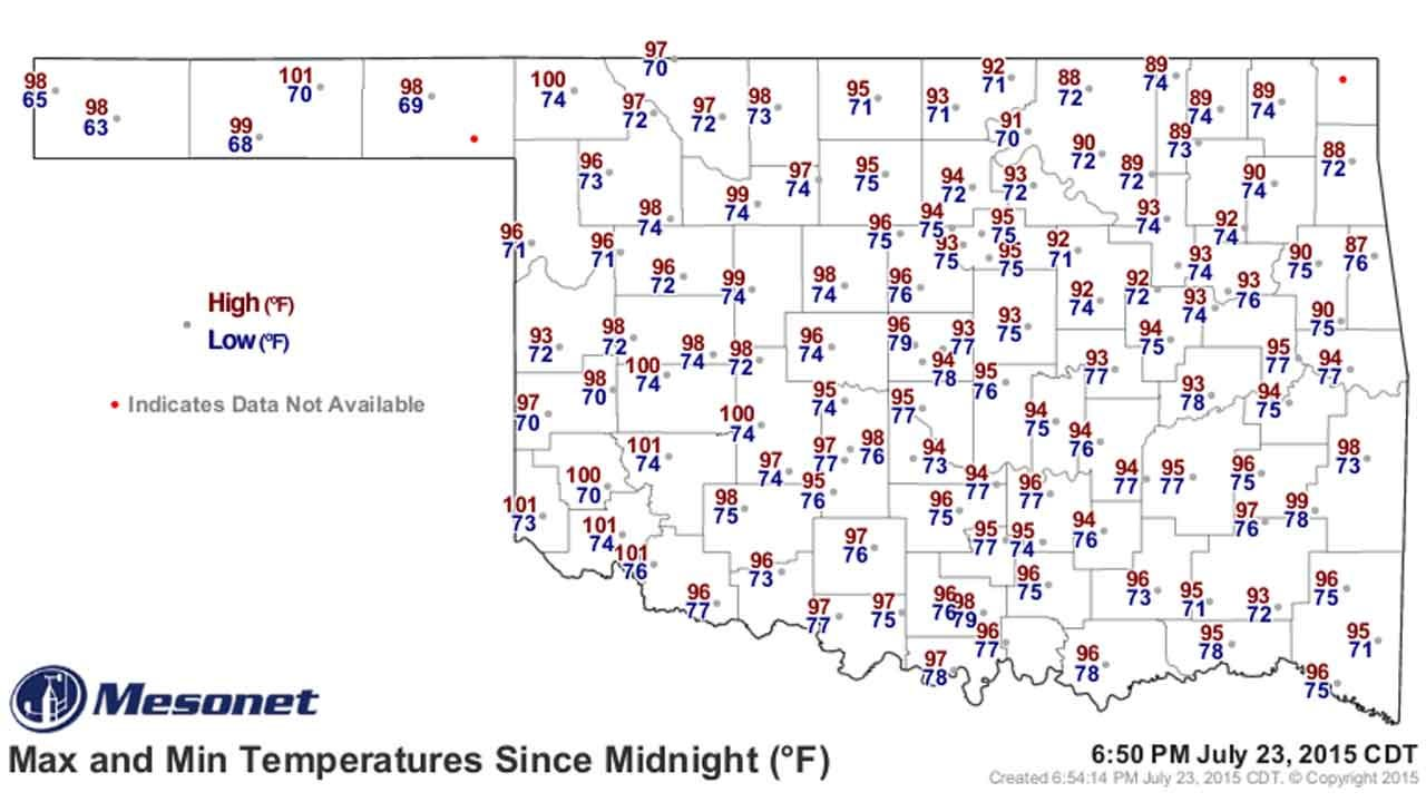 Dick Faurot's Weather Blog: Hot And Humid Through The Weekend