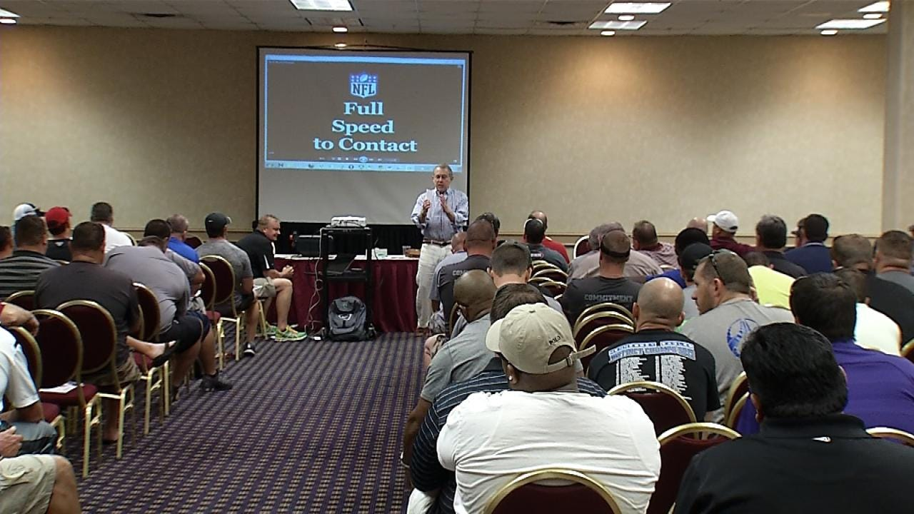 Local Football Coaches Speak On The Importance Of Concussion Prevention At OCA Clinic