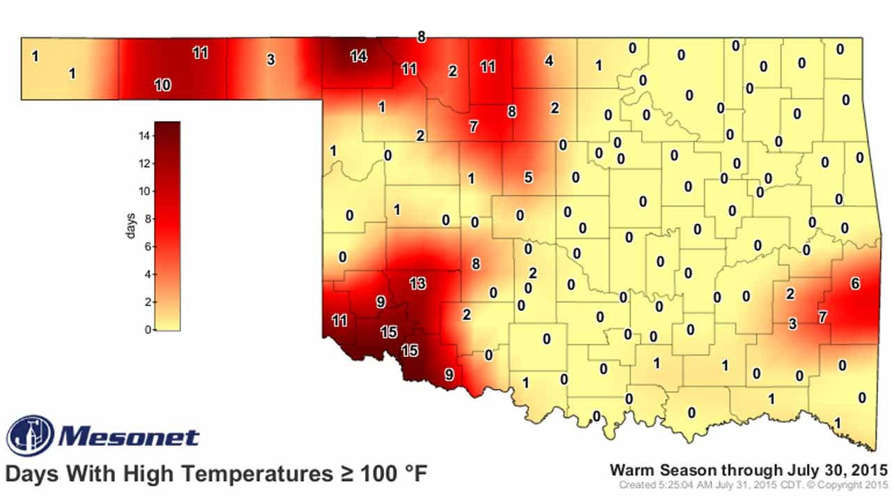 Dick Faurot's Weather Blog: Brief Break In The Heat Continues