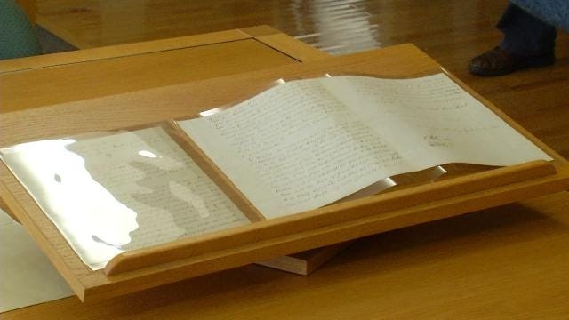 Gilcrease Museum Displays Handwritten Copy Of Declaration Of Independence
