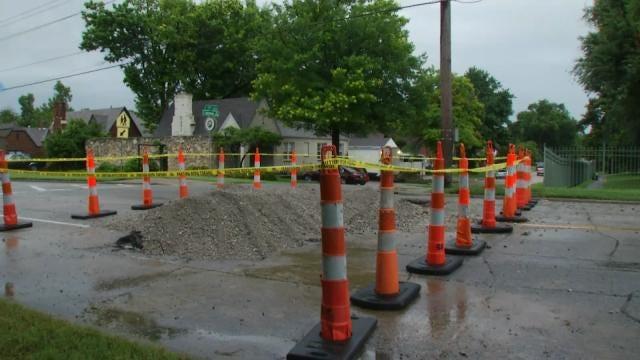 Water Main Leak Closes Tulsa Street