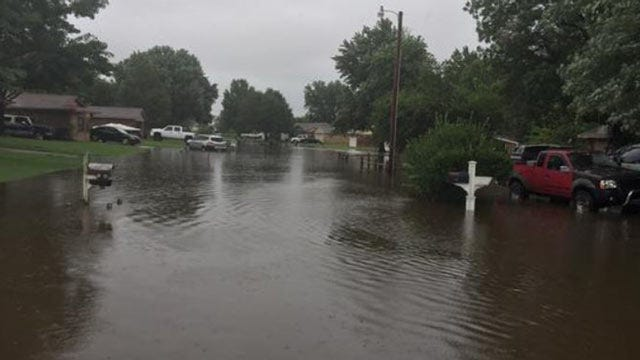 Water Flows Over Muskogee Levee; Officials Concerned About Erosion