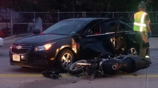 Motorcycle Rider Hurt In Tulsa Collision