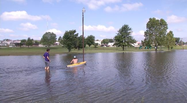 Oklahoma Experts Say Don't Play In Flood Waters