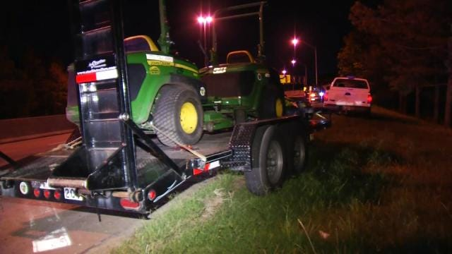 OHP Recovers Stolen Jenks City Truck, Lawn Mowers