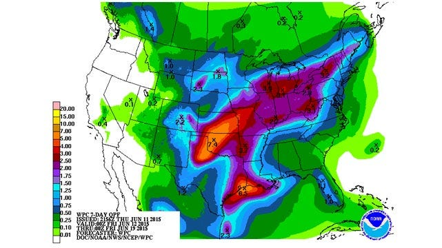 Dick Faurot's Weather Blog: Not As Hot, But Better Chances of Rain Through The Weekend