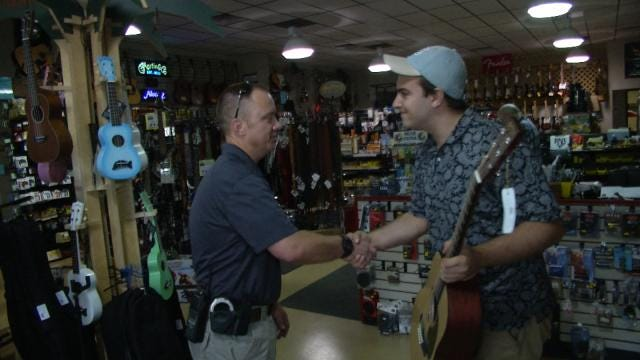 Tulsa Police Return Stolen Guitar To Rightful Owner, Arrest Thieves