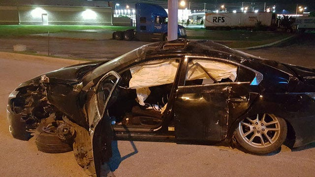 Two Injured In Rollover Crash On Tulsa Highway