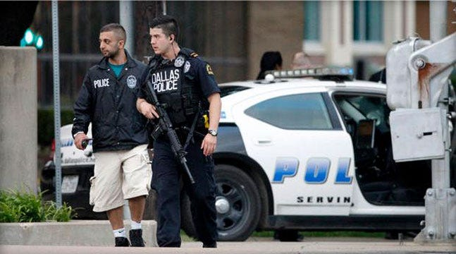 Police Sniper Shoots Suspect In Attack On Dallas Cops