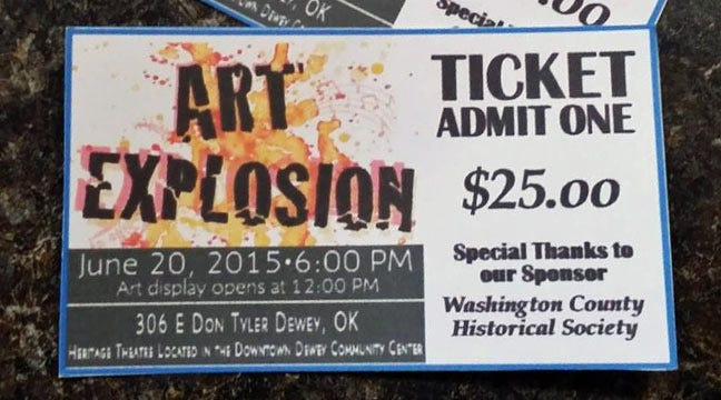 'Art Explosion' Planned For Saturday In Dewey