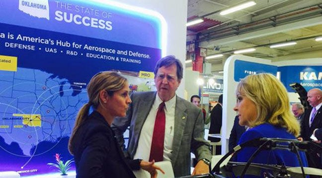 Oklahoma Delegation Courts Aerospace Industry At Paris Air Show