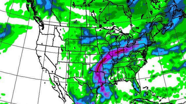 Alan Crone's Weather Blog: Tropical Storm Bill Bringing More Rain To Oklahoma