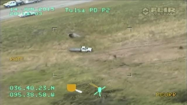 Caught On Video: Tulsa Police Helicopter Chases Suspect