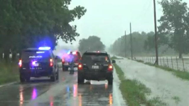Driver Rescued From High Water, Memorial Drive Closed