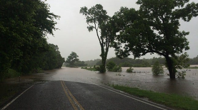 Flooding Closes Highway 48 Near Okemah