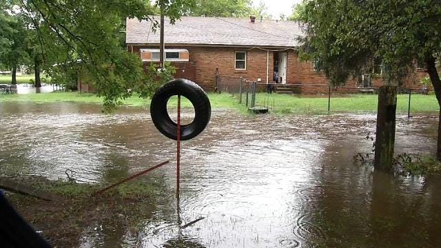 Owasso Residents Protecting Property As Floodwaters Rise