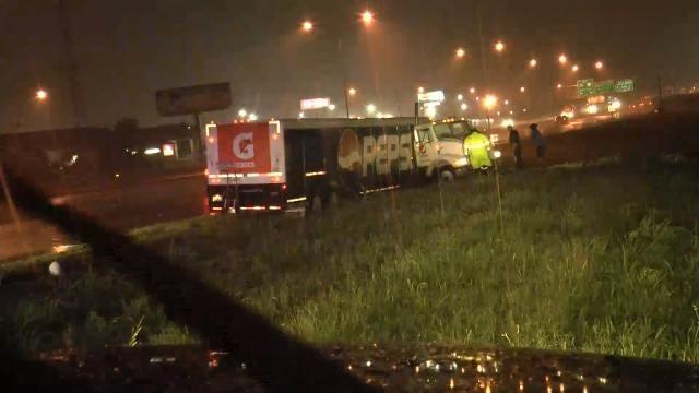 Wet Road Blamed For Truck Crash At I-44, Highway 169 Interchange