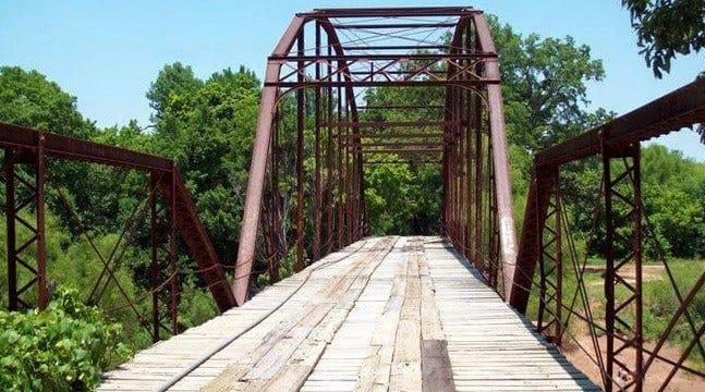 Flooding Destroys One Of Oklahoma's Oldest Bridges