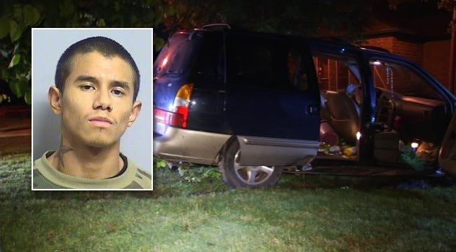 Tulsa Man Crashes Stolen Minivan During Police Chase